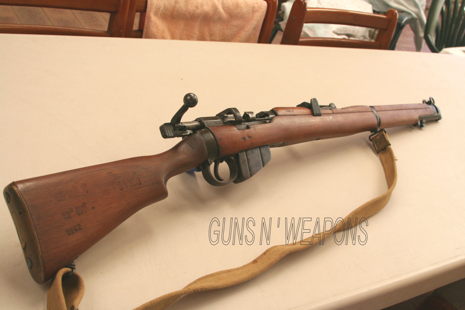 Lithgow No1 III* SMLE circa 1942 303 Bolt Action Rifle for sale